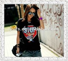 2012 hot selling free sample ladies casual t shirt