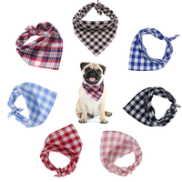 Factory Wholesale 7 Colors High Quality Custom Pattern Cotton Dog Bandana