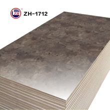 MDF cover melamine paper/Uv high gloss marble design mdf board
