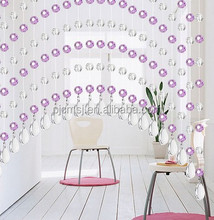 pink crystal beads curtain hanging teardrop-shape crystal for doors decoration Eco-friendly 2015