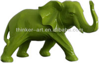 Green smaller affica Elephant resin sculpture desk decor