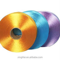 dope dyed DTY pure polyester filament yarn