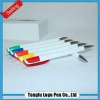 Multi colored gel pen sets white ink ball point pen