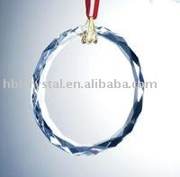 blank Christmas crystal ornament