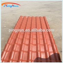 Spanish synthetic resin roof tile/PVC roofing sheet/Plastic bamboo shape roof tile