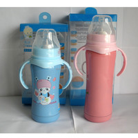 FDA approved 18/8 stainless steel baby feeding bottles