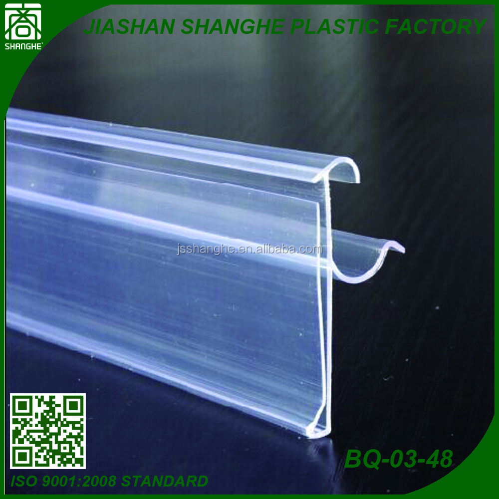 Supermarket plastic display products shelf accessories