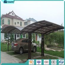 Cheap Price Curved Roof Carport Driveway Gate Car Canopy