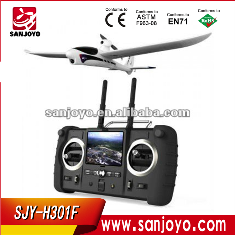 adults rc airplanes H301F 2.4G 4CH sky hawk rc airplane 4 Channel FPV Transmitter Spy Video Crashproof