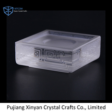Good quality fashion clear glass crystal coaster