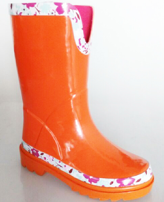 wholesale cheap high elastic kids rubber half wellingtons