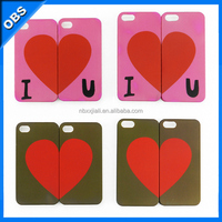 2014 sweet lover PC mobile phone case for iphone4 4s (OBS-PG4-M4017)