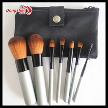 Private label 7 pcs travel makeup brush set,small brush cosmetic