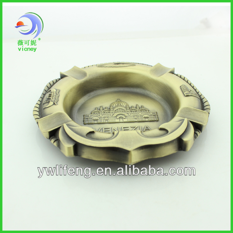 Classical metal bronze electroplating ashtray