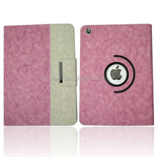 New Rose pattern 360 Rotating PU Leather Case Smart Cover Swivel Stand For iPad air