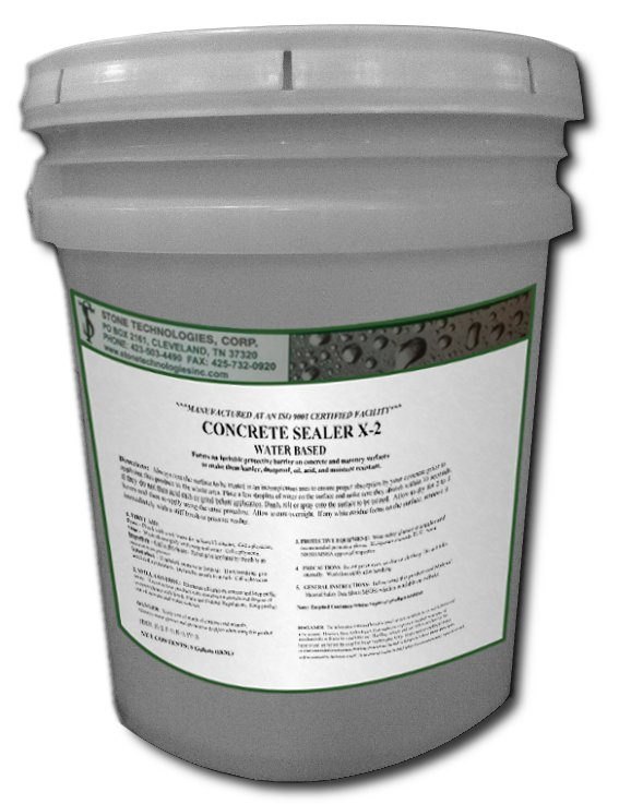 5 Gallons of Concrete Sealer X-2 - silicate based densifier and hardener