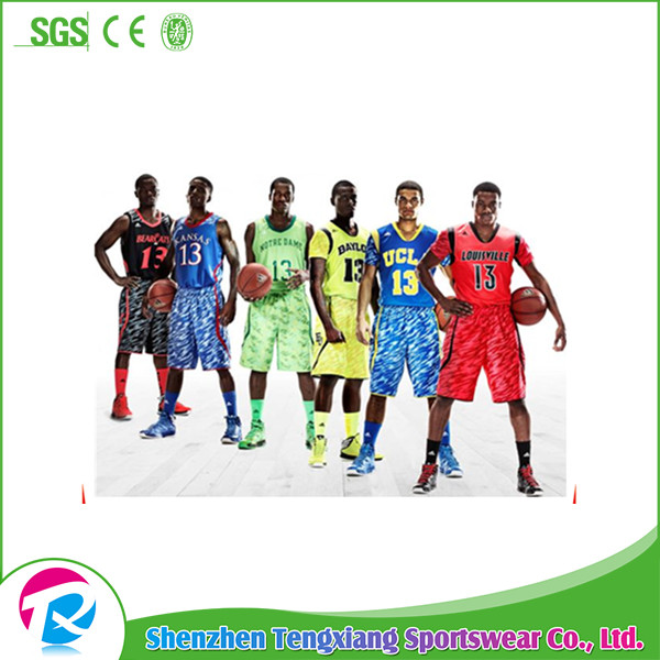 100% Polyester Material Custom Digital Camo Cheap Basketball Uniforms Blank Wholesale