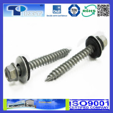 Fasteners SUS 410 Screw / Hex Washer Head Screws Type SS / Double Threaded Wood Screws