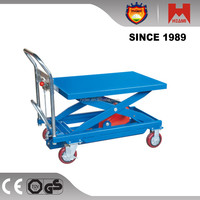 Hydraulic hand lift trolley in material handling eqipment popular