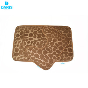 e1b4a97b5b Non Slip Memory Foam Bath Shower Mats Set