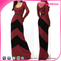 Floor Length Elegant Lady Sexy Long Sleeve Red Evening Dress