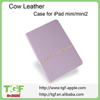 2014 New Fashion Cow Leather Case Cover Stand For Apple iPad Mini /Mini2