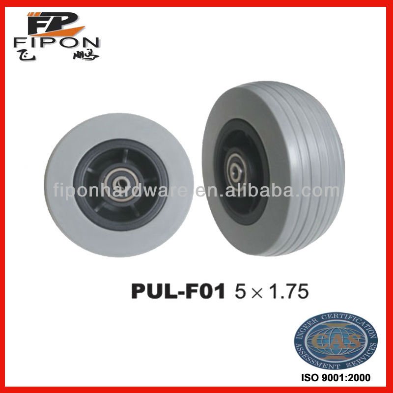 PU Solid Wheelchair Front Wheel