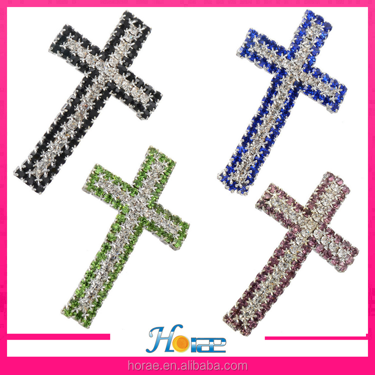40.7*23.8mm fashion jewelry connector accessories crystal cross connector