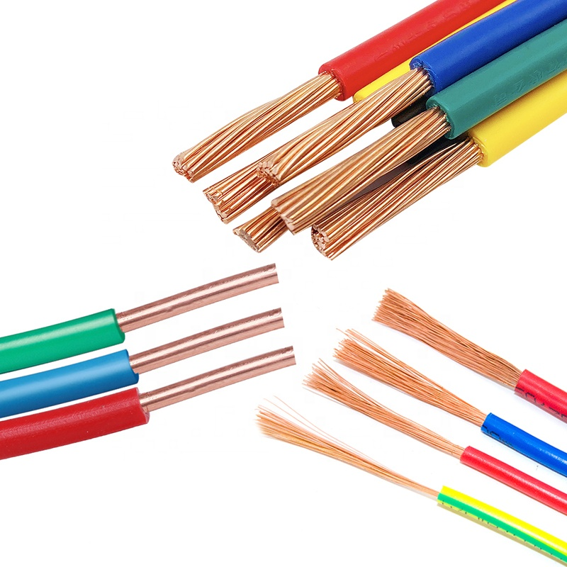 single core solid or stranded copper <strong>cable</strong> and wire 1mm 1.5mm 2.5mm PVC insulated electric building house wire h05v-<strong>k</strong> <strong>H07V</strong>-<strong>K</strong>