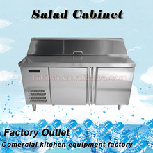 Refrigerated salad display cabinet / commercial chiller for salad