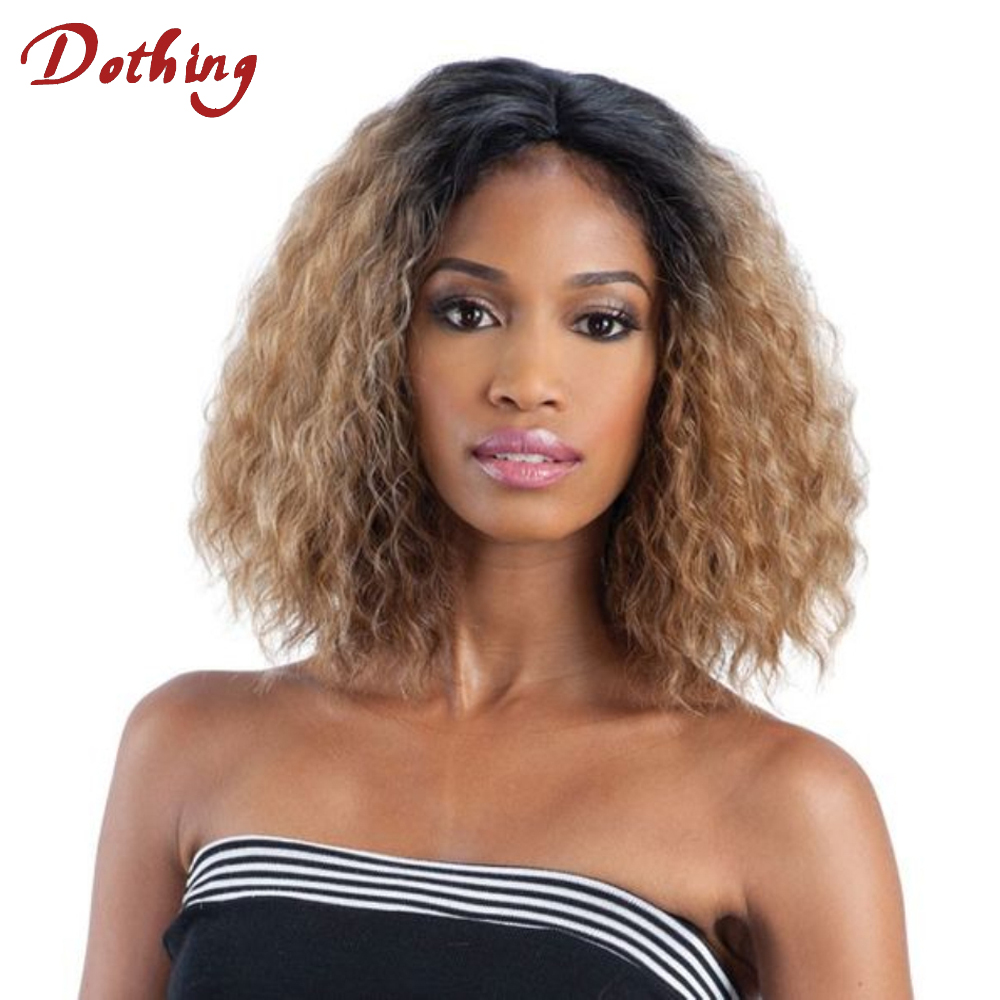 Top Quality Wholesale Price Ombre 1b Blonde Loose Curly Peruvian Human Hair Lace Wigs for African Americans