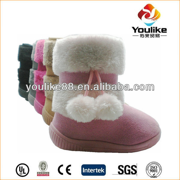 YL9448 Pink Upper White Ball Salomon Boots for Kids
