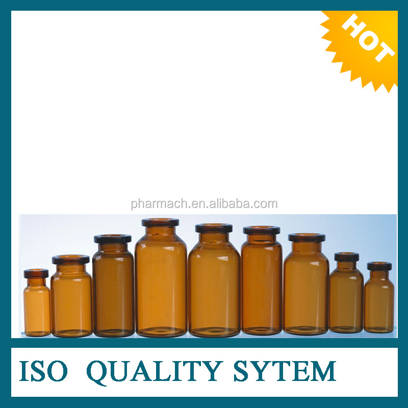 hot price for 10ml amber tubular vial for injection