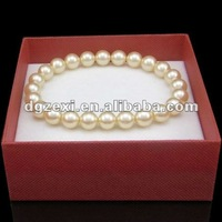 Hot imitation jewellery of 8mm size glass pearl jewelry bracelet