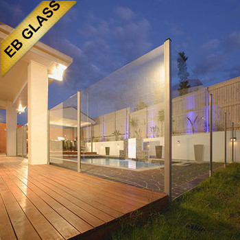 swimming pool laminated glass fence, EB GLASS