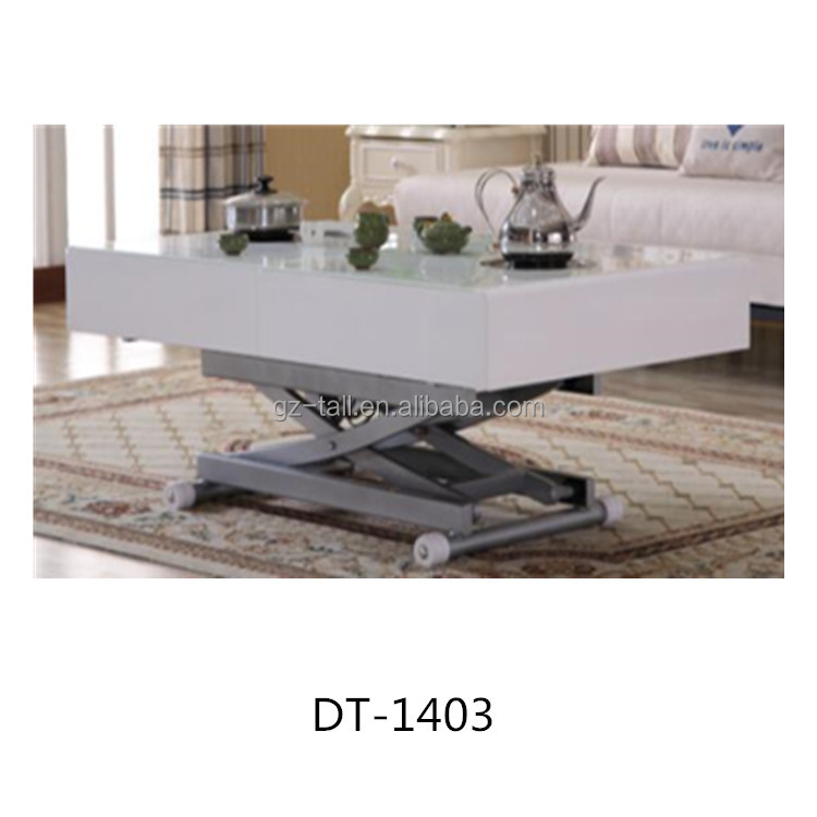 Modern glass dining table for wholesale space saving home furniture