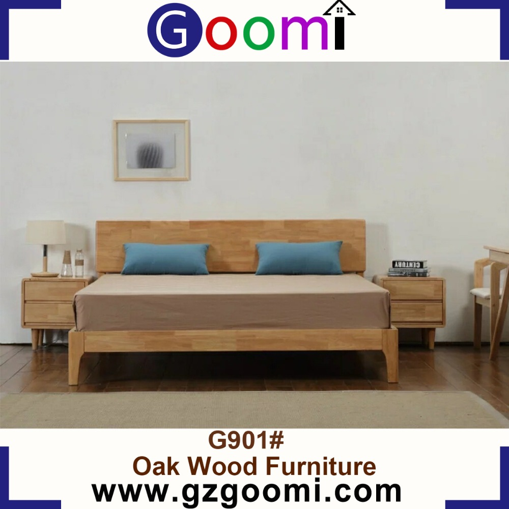 Factory Supply Goomi Home Use Furniture Bedroom G901# teak wood double bed designs