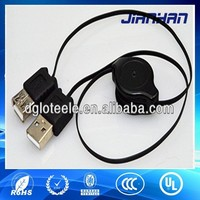 made in china market power retractable cable male to female extension cable