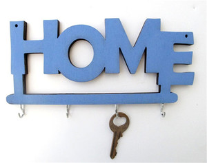 Unique Home wooden sign keys hook
