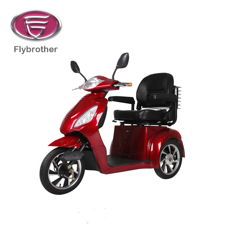 three wheel covered scooter motorcycle with removable handicapped seat