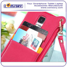 Classic Design Flip Leather Case with card holder for Samsung Galaxy S5 i9600