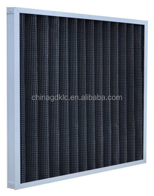 Pleated activated carbon HVAC filters