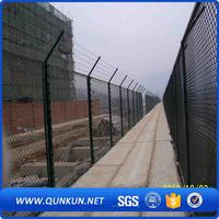 Airport security chain link fencing