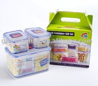Food Storage set plastic 4 Containers,airtight food storage containers(walmart audited factory)