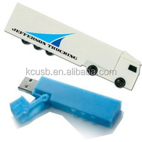 Cartoon car truck shaped usb PVC usb 2.0 flash drive /usb memory stick