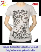 2012 latest design fitness cute high quality full printing ladies t shirt