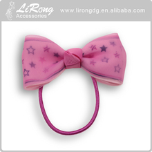 Ponytail Holder Hair Bow with Elastic Hair Bands