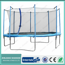 high quality 10 kids trampoline/jumping bed with safety net