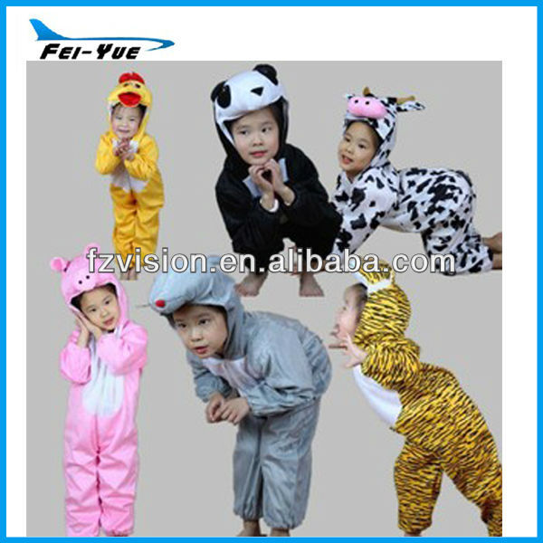 Eco-friendly Plush Jumpsuit onesie carnival kids Animal Costumes