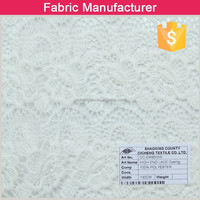 new design white embroidery lace curtain fabricembroidery fabric